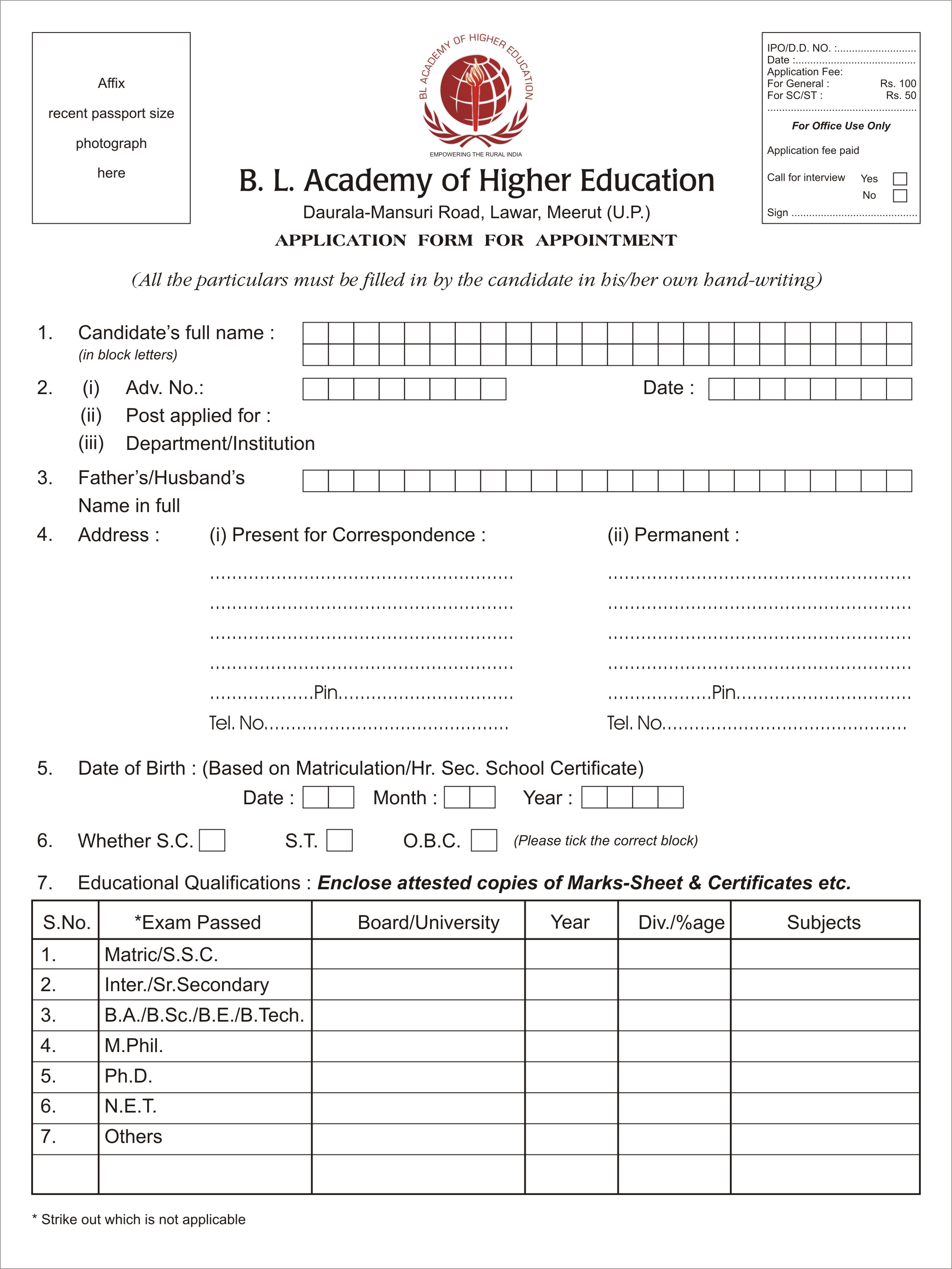 BL Academy of Higher Education, Bachelor of Business ...